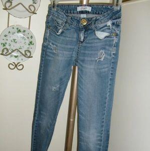 Women's Juniors Candie's Jeans Blue Super Low Rise